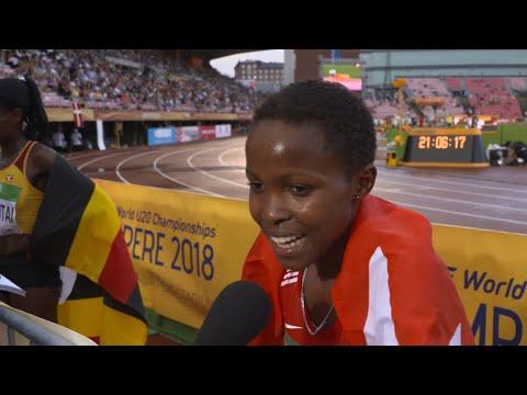 IAAF World Under 20 Tampere -  Winfred Mutile Yavi AUS 3000m Bronze