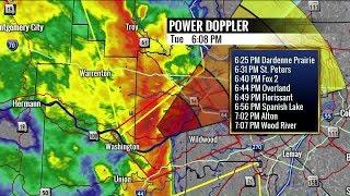 Tracking tornadoes near St. Louis, Missouri