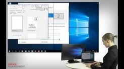OM opetusvideo 4: Kaksoisnäytön asetukset Windows 10:ssä