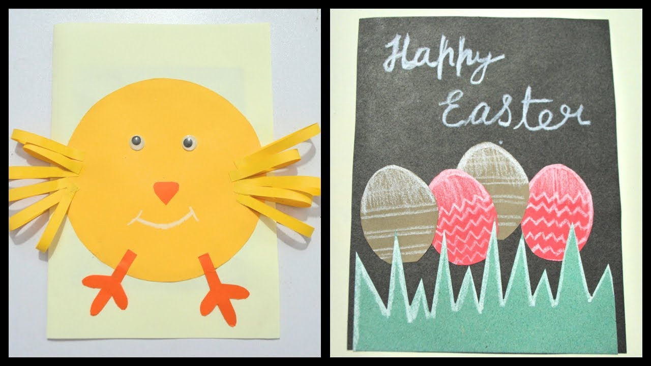 How To Make Easter Card Step By Step Easter Crafts For Kids