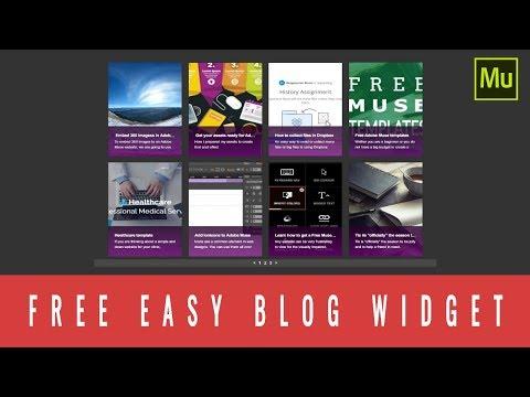 Free Adobe Muse blog widget - EasyBlog