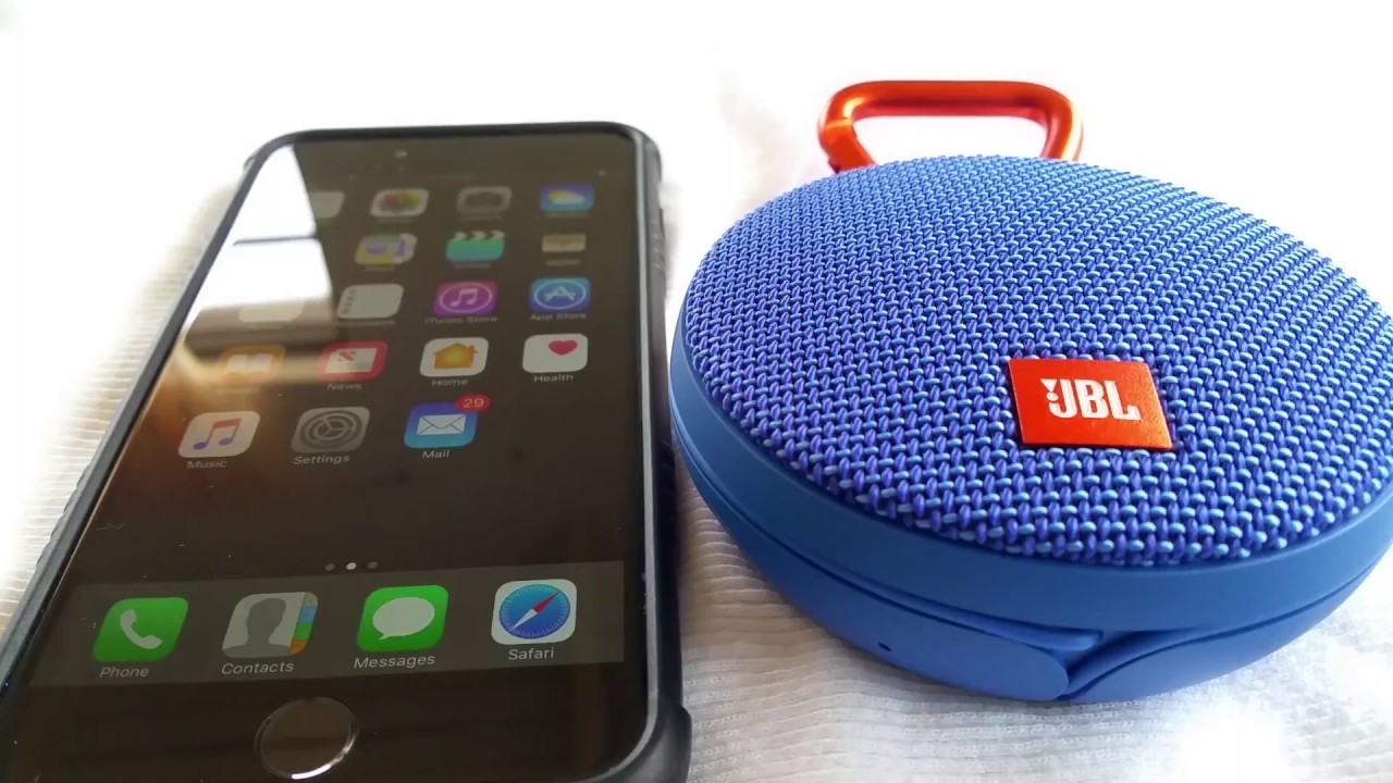 How to pair JBL Clip 2 Bluetooth Speaker to Iphone 6 Plus