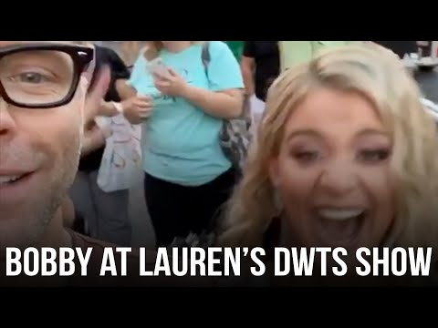 Bobby Goes To Lauren Alaina's DWTS Pop-Up Show