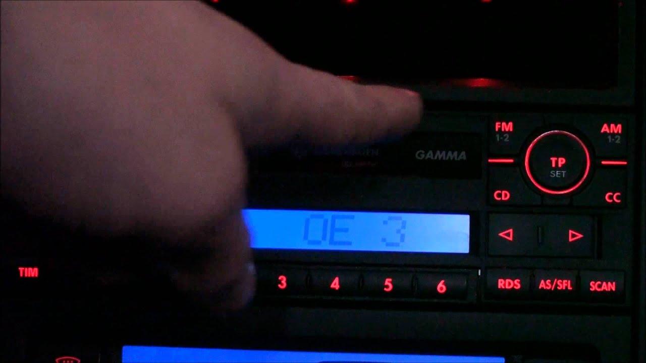 радиоприемник alpha на фольксваген поло 1990г
