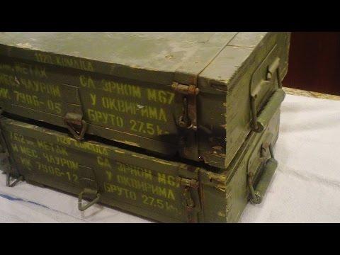 Crates FULL of Rare M67 Ammo....Surplus