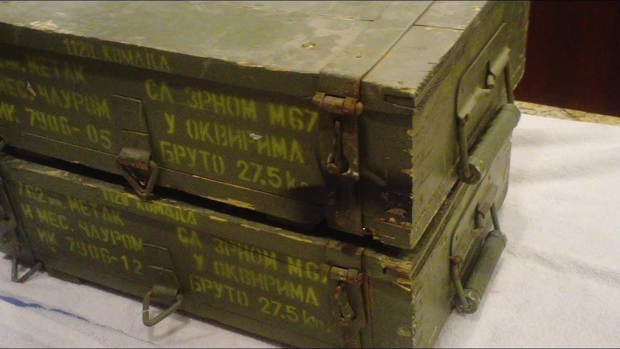 crates full of rare m67 ammo surplus youtube