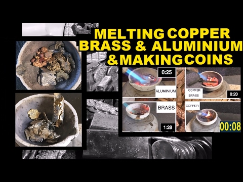 DIY COIN CASTING WITH HANDHELD TORCH COPPER BRASS ALUMINIUM
