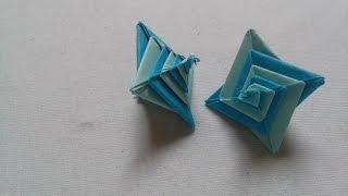 DIY - Gấp ngôi sao xoắn ốc độc đáo - Origami