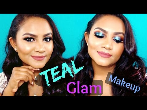 Teal Eyeshadow Glam Makeup Tutorial | Beauty By Ish