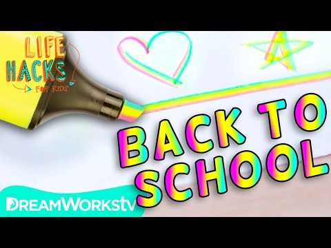 Rainbow Highlighter + Other Back To School Hacks  LIFE HACKS FOR KIDS