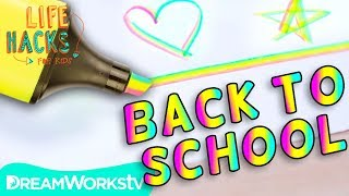Rainbow Highlighter + Other Back To School Hacks | LIFE HACKS FOR KIDS