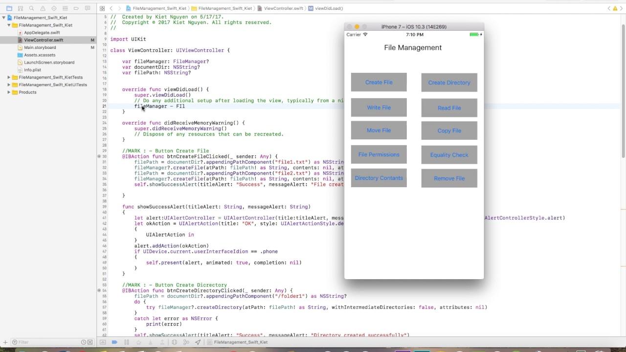 Swift 3 - File Manager - Kiet - Group 9 - HCMUTE - YouTube