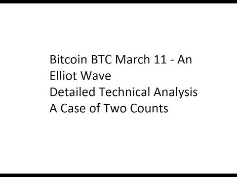 Bitcoin BTC March 11 - An Elliot Wave Detailed Technical Analysis - A Case of Two Counts