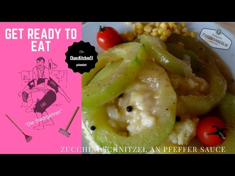 Zucchini Schnitzel in Pfeffer Sauce - *Vegan-Vegetarisch, einfach lecke DIY #CK51