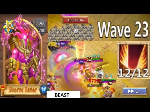 Storm Eater 12/12 OWNING Ember Army Top 50 Score BEASTIN Castle Clash