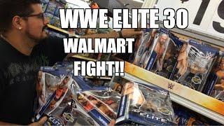 WWE ACTION INSIDER: Elite 30 at WALMART! Mattel wrestling figures store display! Lesnar, Batista!