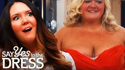 Brides Disagree over Bridesmaid's Cleavage! | Say Yes To The Dress Bridesmaids