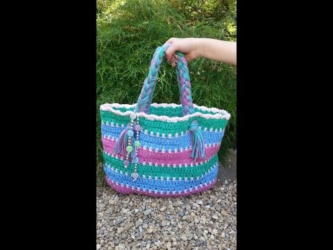 CROCHET  How to  #Crochet Summer Beach Bag #TUTORIAL #87 LEARN CROCHET