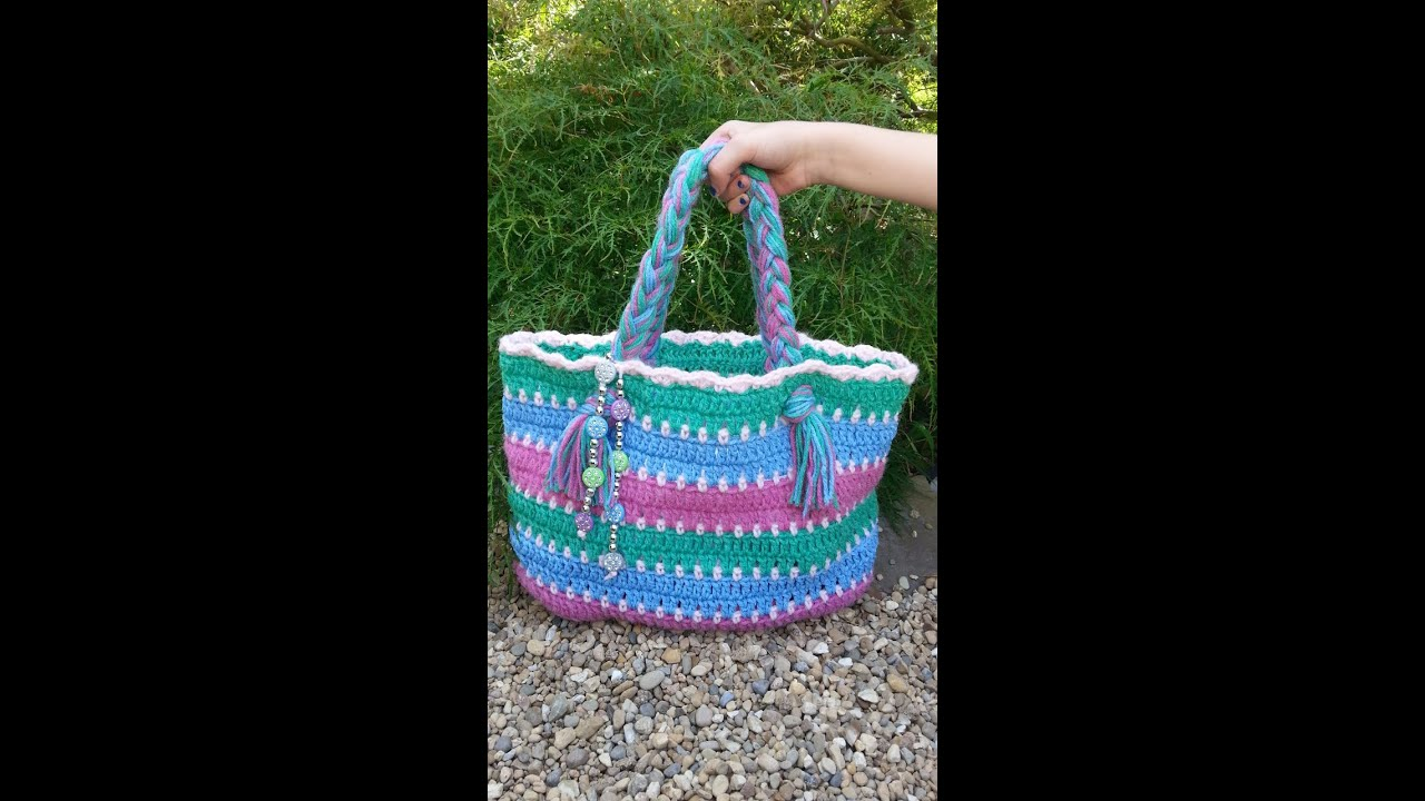 Beach Bag Crochet : CROCHET How to #Crochet Summer Beach Bag #TUTORIAL #87 LEARN CROCHET ...