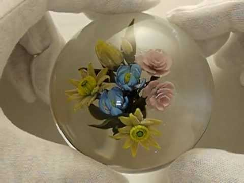 rose flower bouquet paperweight youtube