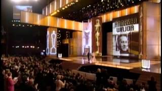 Jane Fonda presents an Honorary Oscar® to Andrzej Wajda