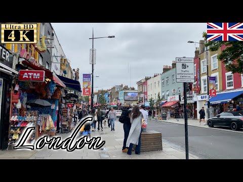 🇬🇧London Post-Lockdown Walk - Camden Town -【4K 60fps】