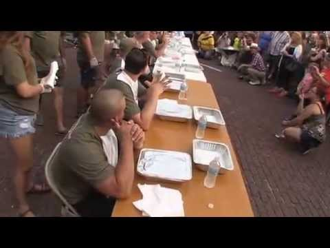 The Brick District: Fulton Street Fair/Bek's crawdad eating H 264 for Video Podcasting