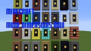 Minecraft Mod Showcase: ANY DIMENSION MOD! (37 New Dimensions!)