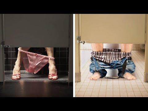 İşte Bu Yüzden, Umumi Tuvalet Kapıların Altında Boşluk Var.