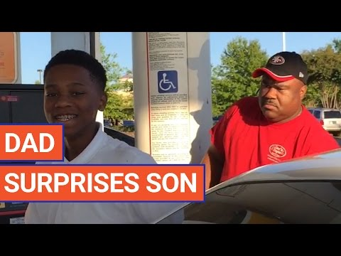 Dad Surprises Son with Homecoming Video 2017 | Daily Heart Beat