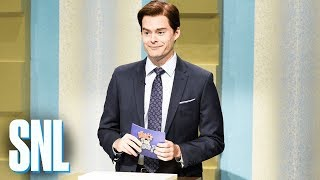 "Vince Blight (Bill Hader) hosts ""What's That Name?"" where contestants (John Mulaney, Cecily Strong) easily remember the names celebrities, but can't recall the ..."