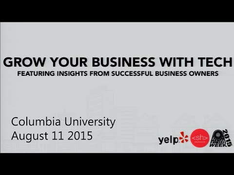 Grow Your Business With Tech -  Presented By: Yelp and Silicon Harlem