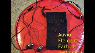 Auvio Element Earbuds (with mic) Unboxing