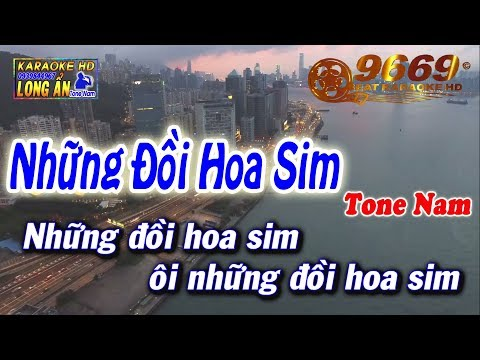 Karaoke Những Đồi Hoa Sim | Tone Nam Beat Chuẩn | Nhạc Sống LA STUDIO | Karaoke 9669