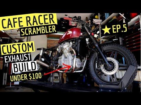 Cafe Racer - Scrambler Custom Exhaust Build with Muffler
