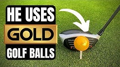 MEET THE MAN WHO PLAYS WITH GOLD GOLF BALLS!