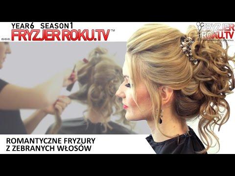 Romantyczne Fryzury Z Zebranych Włosów. FryzjerRoku.tv