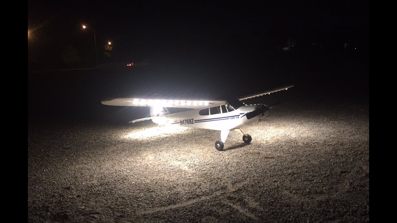 first ever night flight with my hobby zone supercub lp. Black Bedroom Furniture Sets. Home Design Ideas