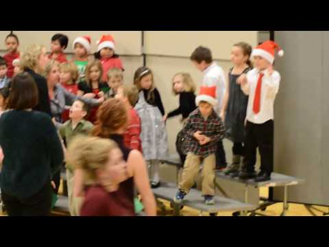 Ellie's Warroad Elementary School Kindergarten Class Christmas concert 2016 song 7