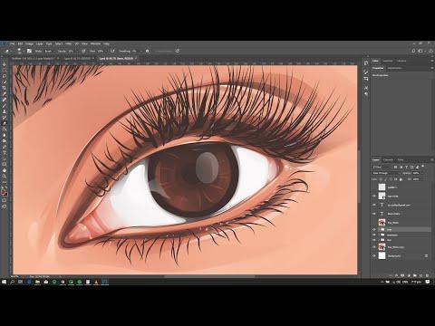 EYE Vector Art / Vexel Art / Cartoon Effect Photoshop [SPEED ART]