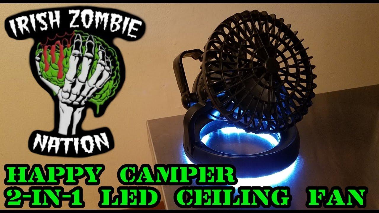 Car Camping Luxury Item Happy Camper 2 In1 Ceiling Fan