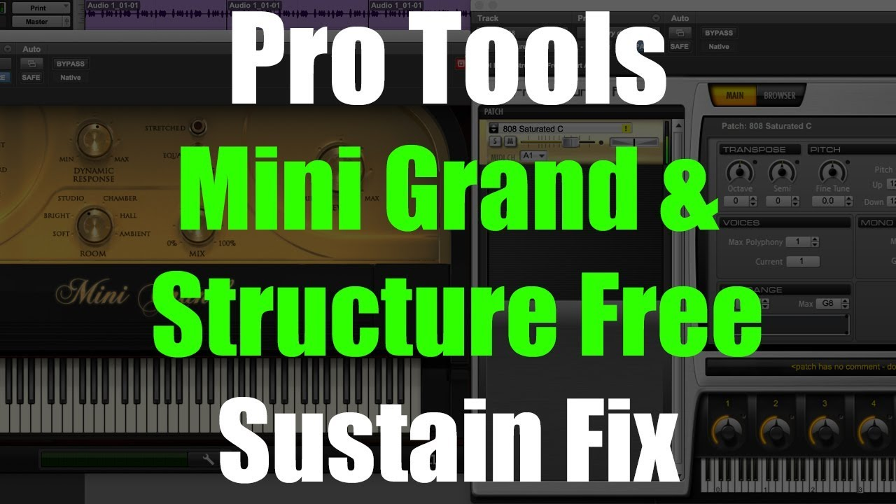 Pro Tools Mini Grand and Structure Free Sustain Fix