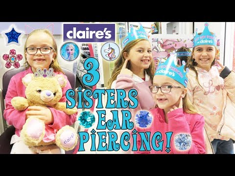 Ear Piercing At Claires! | Crazy8Family