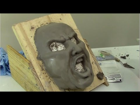 Paper mache mask and wed clay tips youtube for How to make ceramic painting