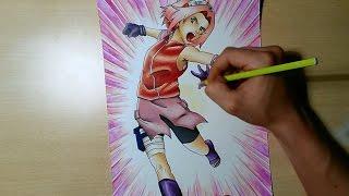 Speed drawing - Sakura Haruno - Naruto Shippuden