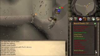 Old School Runescape 2007 Troll Romance boss fight with Arrg. 1 Defence pure.