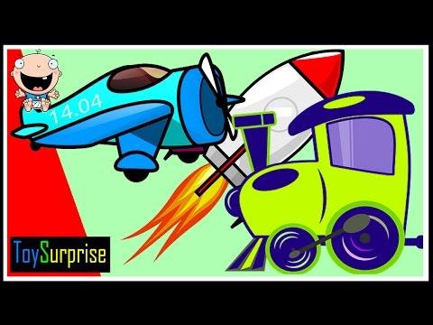 los transportes para niños en español. Vehículos y y medios de transporte con sus sonidos. Educativo