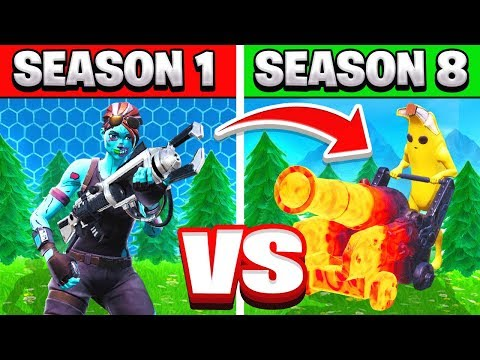 SEASON 1 Vs SEASON 8 TRIVIA *NEW* Game Mode In Fortnite Battle Royale