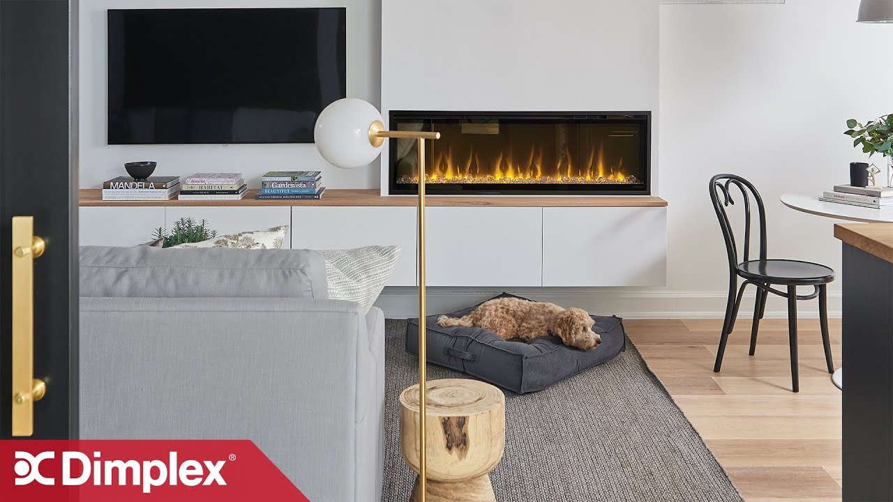 Designer Uses Electric Fireplace In Basement Remodel Dimplex Youtube