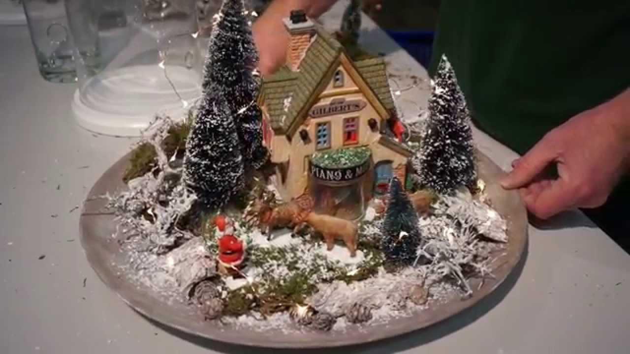 Miniatur landschaft mit lemax gestalten youtube - Winterlandschaft deko ...